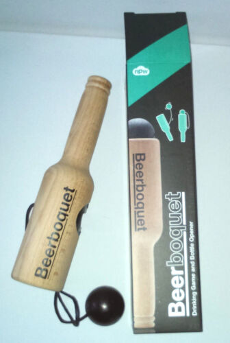 BEER BOQUET DRINKING GAME Wooden Cup /& Ball BOTTLE OPENER Adult STAG NIGHT Party
