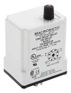 MACROMATIC-TR-50222-05-Timer-Relay-10-sec-8-Pin-10A-DPDT-120V