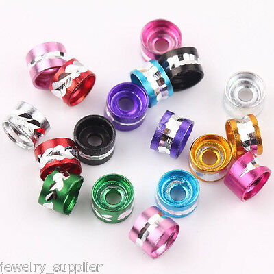 Wholesale 200Pcs Aluminium Tube Spacer Charms Loose Beads Jewelry Making 6x4mm