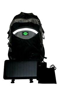 Mochila solar para Outdoor u. camping con Power Bank (negro/gris)