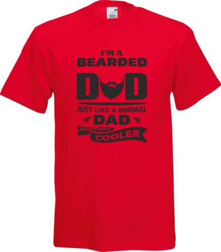 I/'M A BEARDED DAD LIKE A NORMAL DAD BUT COOLER FUNNY GIFT XMAS COTTON T SHIRT