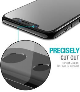 buy online 1c093 8b45d Details about TOZO Screen Protector for iPhone X 3D Full Frame Technology  Premium Tempered 9H