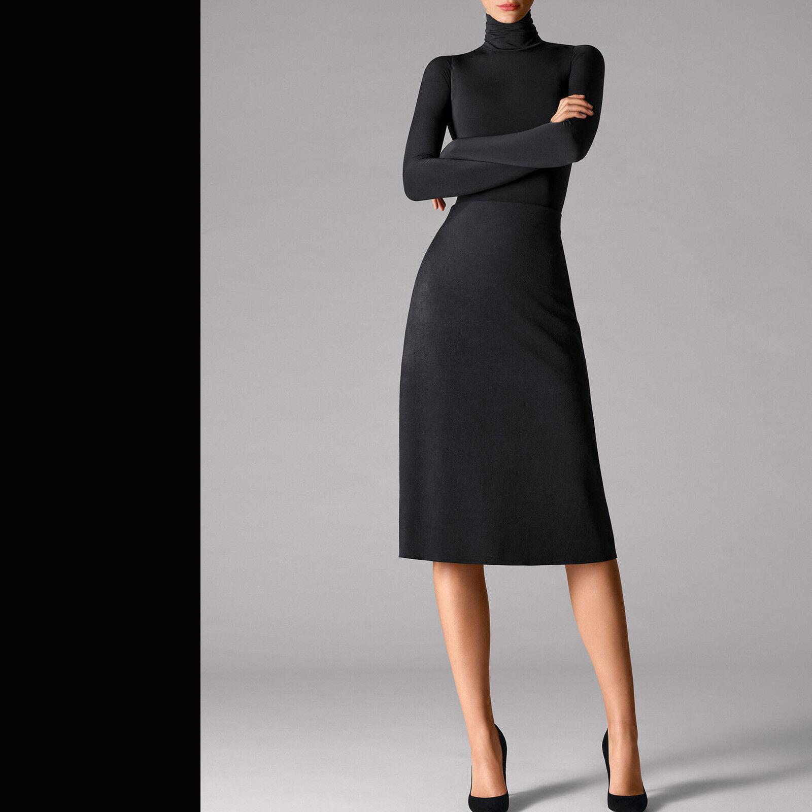 Wolford Velour Skirt • schwarz  ... leicht ausgestellter Rock aus Velour Leder