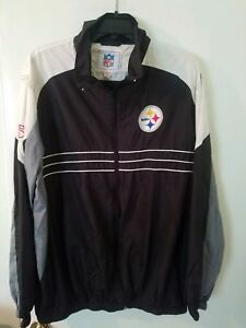 Image is loading PITTSBURGH-STEELERS-Jacket-Lightweight-Zip-Up-size-XL- 4a1ad61fd