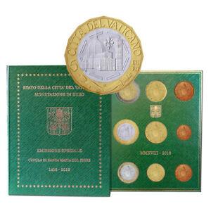 Vatikan-EURO-Kurssatz-KMS-2018-ST-mit-5-Euro-Gedenkmuenze-Kursmuenzensatz
