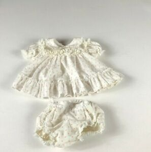 Bryan-Dress-VTG-Girls-Baby-0-3-Mo-Flowers-Lace-Tiered-Lined-Bottoms-Frilly-USA