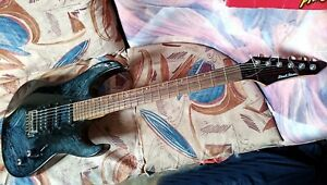 Electric guitar superstrat HSS Pearl River, art finish,similar profile to Ibanez