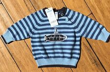 NEW Gymboree Submarine Blue Striped Sweater Size 3-6 Months