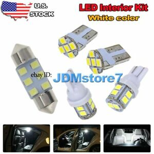 Image Is Loading 7x White Led Map Dome Light Interior Bulb