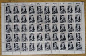 50-x-Bund-1272-postfrisch-Bogen-Formnummer-FN-1-BRD-1986-Oskar-Kokoschka-MNH