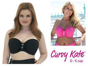 ee9c12bb9eaaa Curvy Kate Luau Love Strapless Bandeau Bikini Top CS1941 Black or ...