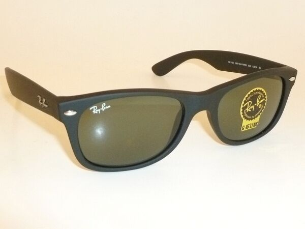 09626a9657e New RAY BAN Sunglasses Matte Black Rubber WAYFARER RB 2132 622 G-15 Glass  55mm