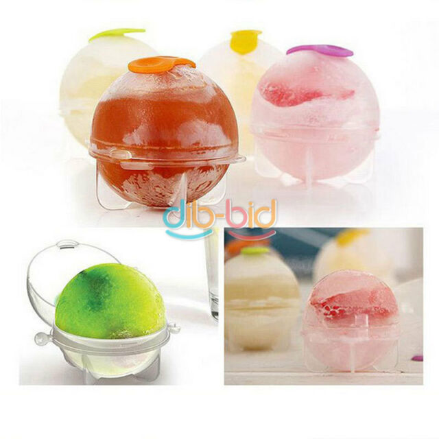 4Pcs Party Plastic Cute Ice Cube Ball Round Maker Sphere Mold Mould KZ UK