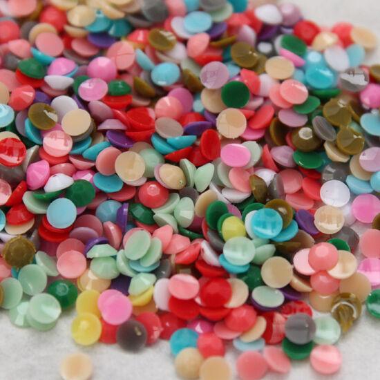 1000-10000 DIY nail art Candy solid mix Color Rhinestone Acrylic/resin Flatback