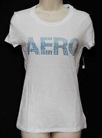 Aeropostale White T-shirt W/blue Bling W/tags