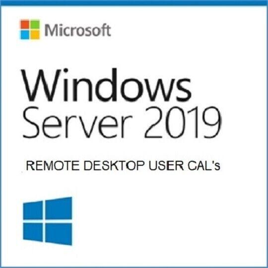 Microsoft Windows Server 2019 | 50 Remote Desktop Services RDS CAL  Certificate |