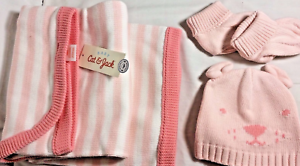 a78b39dd1570 Image is loading Newborn-Baby-Girls-Blanket-Hat-and-Booties-Set-