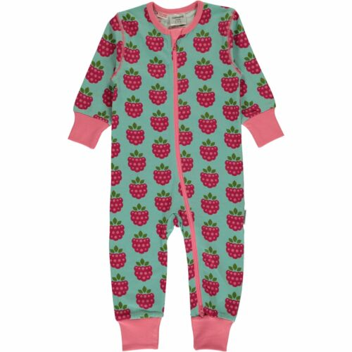 Maxomorra Organic Cotton Raspberry Baby Rompersuit Long 3 6 9 12 18 24 Months