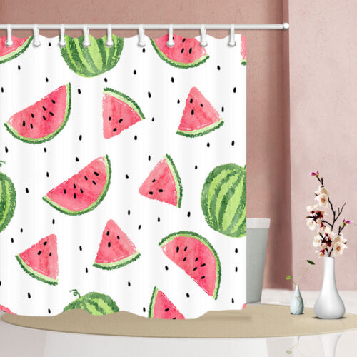 Hot Summer watermelon slices Shower Curtain Bathroom Fabric 12hooks 71*71inches