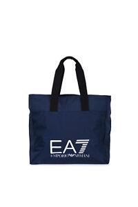 Borsa-Donna-Emporio-Armani-EA7-275661-CC731-Shopping-Bag-Media-a-Mano-Blu-NUOVA