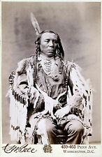 1880 Native American Indian Crow King Portrait Photo Art Print Poster