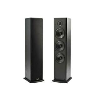 Denon-Polk-Audio-T50-par-paquete-de-altavoces-de-torre-Negro