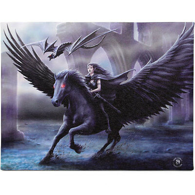 Fantasy Gothic Art Canvas Wall Plaque~Realm of Darkness~by Anne Stokes~39~uk