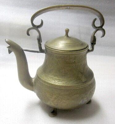 Alte Kaffeekanne Aus Schwerem, Dickem Messing Chinesische Aromen Besitzen