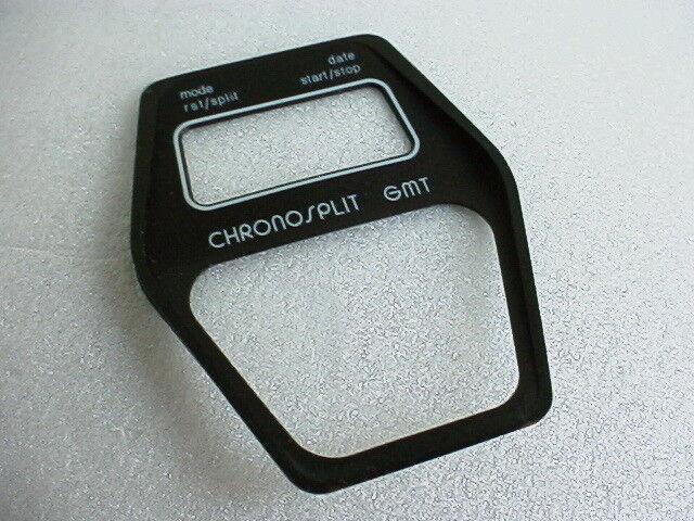Heuer Manhattan GMT Chronosplit Cal 104 Stahl, Modell 104.403 N Zifferblatt NOS