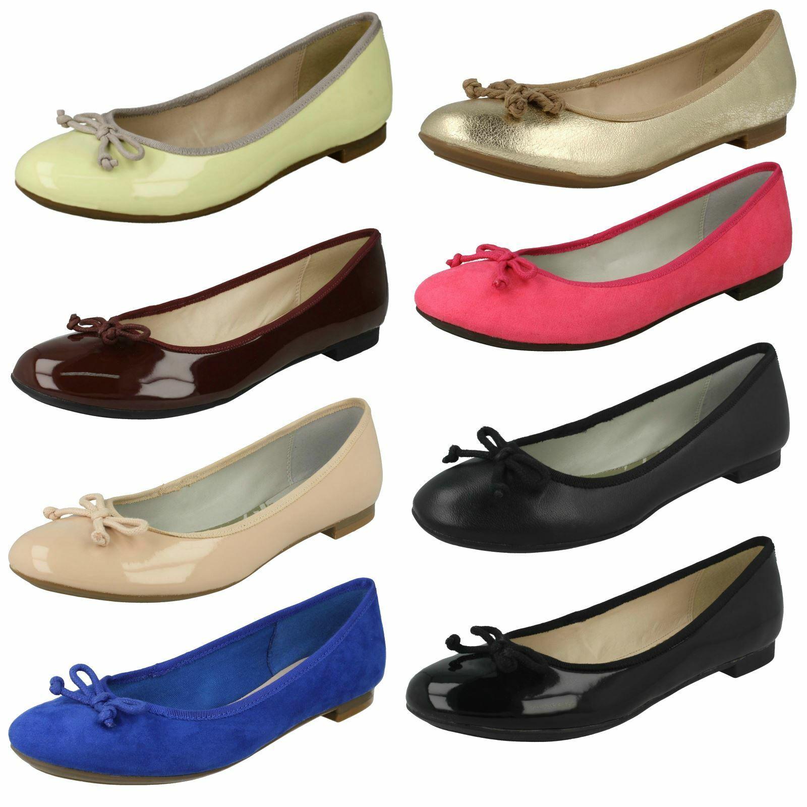 Ladies Clarks Flat Ballerina shoes Carousel Ride
