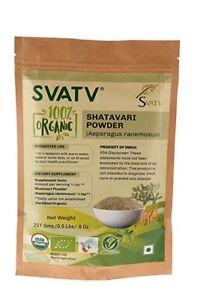 SVATV-Shatavari-Pulver-Spargel-Racemosus-227g-USDA-EU-zertifiziert-Bio