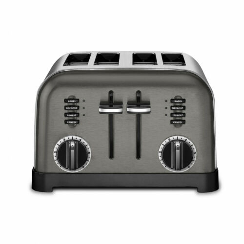 4-Slice Metal Classic Toaster Custom Controls Bagel Bread Pastries Auto Cutoff