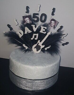 Brilliant Musical Note With Feathers Elvis Birthday Cake Topper Decoration Birthday Cards Printable Opercafe Filternl