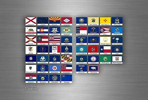 Surfboard 50x Selbstklebend Sticker Flagge Staufach USA Vereinigte Amerikanisch