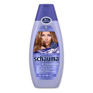 400ml schauma power volume 48h shampoo tracking fine flat hair