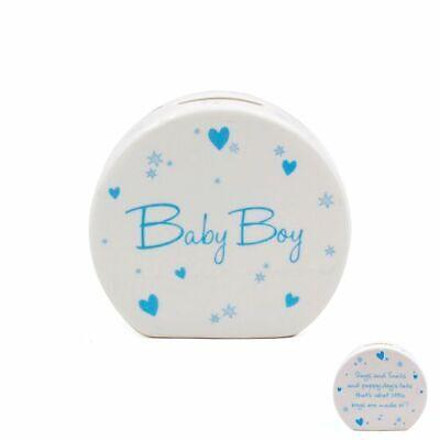 Baby Gift Christening Gift Money Box Baby Boy Blue