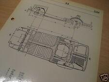Maßplan Bodengruppe  DAF 33