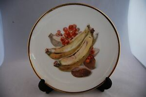 Bavaria  Thomas  Gilt Rim plate Bananas and Fruit design - <span itemprop='availableAtOrFrom'>Workington, United Kingdom</span> - Bavaria  Thomas  Gilt Rim plate Bananas and Fruit design - Workington, United Kingdom