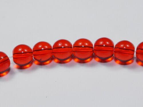 Perles de verre 8 mm-Strang-Neuf Top différentes couleurs