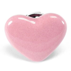 Image Is Loading Pink Heart Cabinet Knobs Kitchen Drawer Pulls Ceramic