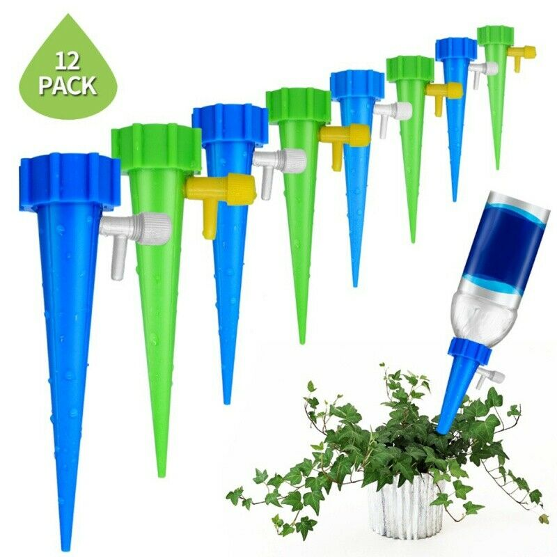 Acmer 4 Packs Plant Self Watering Spike Plant Self-Watering Stakes Automatic Watering Tool Plant Automatic Dripper Watering Bird Reservoir for Indoor and Outdoor