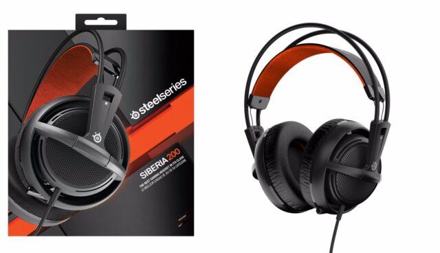 STEELSERIES Siberia 200 Full-Size Headset BLACK 51133 PC MAC MOBILE PS4 (F17)