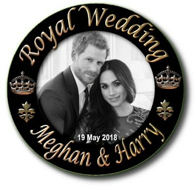 PRINCE HARRY~MEGHAN MARKLE BUTTON BADGE~FAB STREET PARTY ROYAL WEDDING SOUVENIR