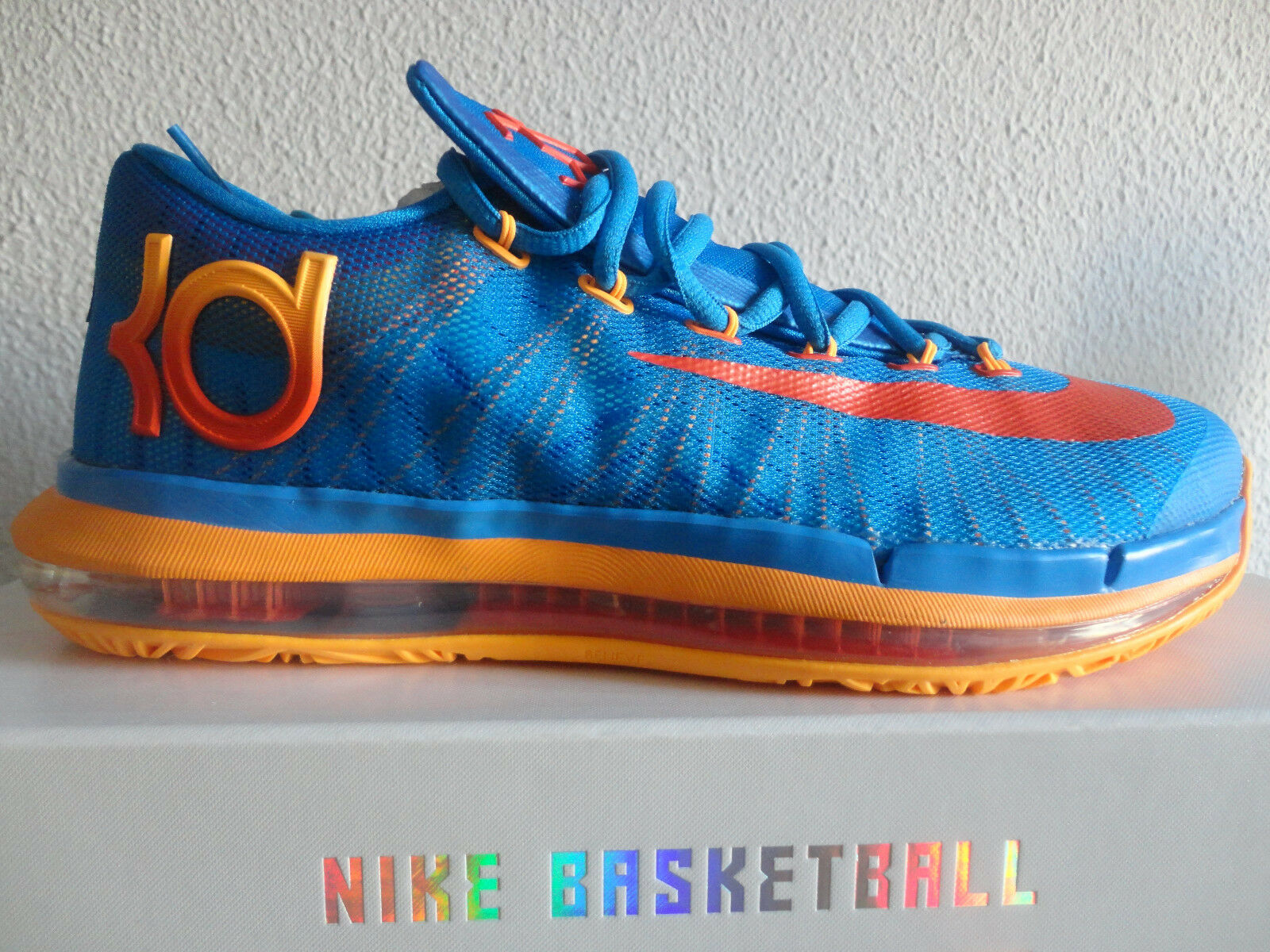 Nike Basketball KD VI Elite US8 UK7 PHT BL TM ORNG-ATMC 642838 400 Kevin Durant