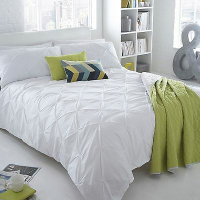 Ben De Lisi Home White Ruched 'Brooklyn' Bedding Set From Debenhams