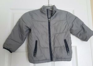 cdf5556e0976 Baby Gap jacket Toddler Boys 4t Grey Green puffer Quilted full zip ...