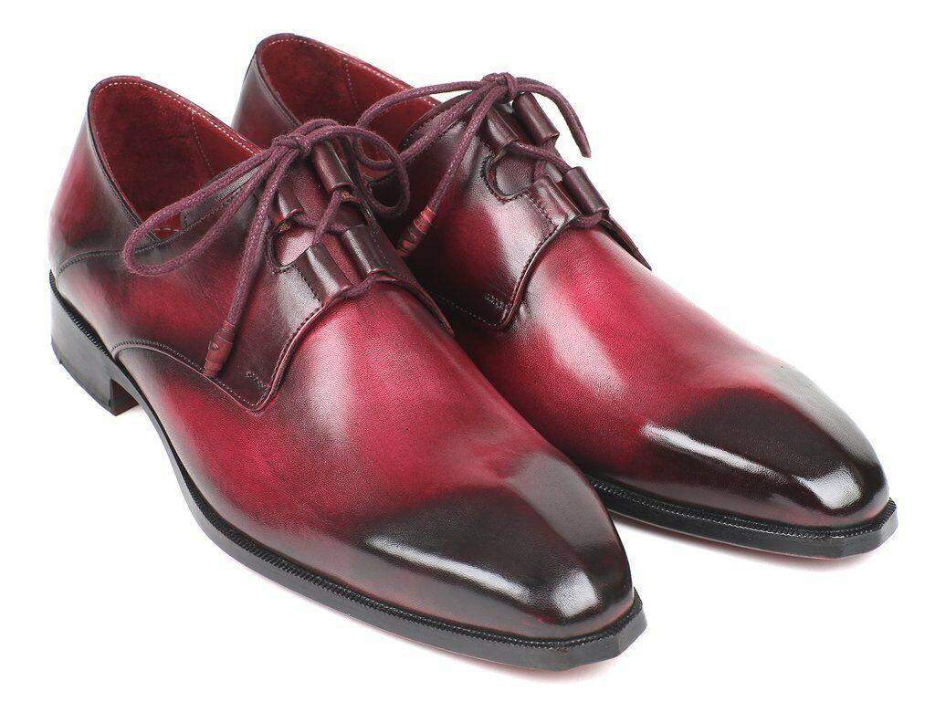 Paul Parkman Men's Ghillie Lacing Bordeaux Dress scarpe GT515-BRD