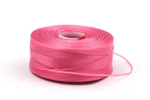 1 Rolle C-Lon Garn Pink ø0,30mm flexibles Perlengarn Fädelarbeiten