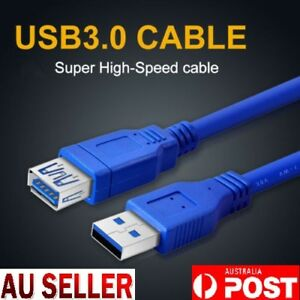 USB 3.0 SuperSpeed Extension Cable Male to Female 3M 1.5M 1M High Speed AU Stock