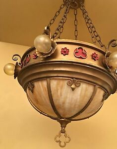 Details About Vintage Lighting Amazing 1920s Slag Gl Chandelier